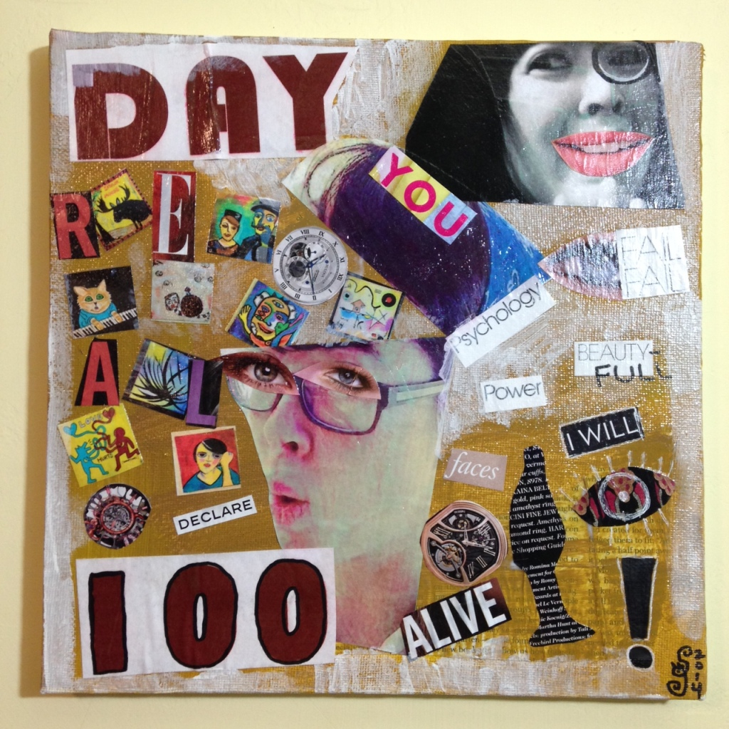 Day 100- Tribute to Raoul Hausmann Linda Cleary 2014 Mixed-Media on canvas