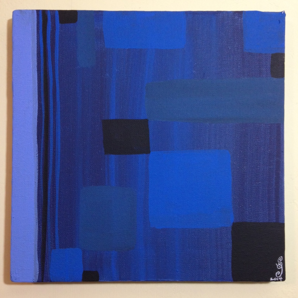 Blue Painting- Tribute to Ad Reinhardt Linda Cleary 2014 Acrylic on Canvas