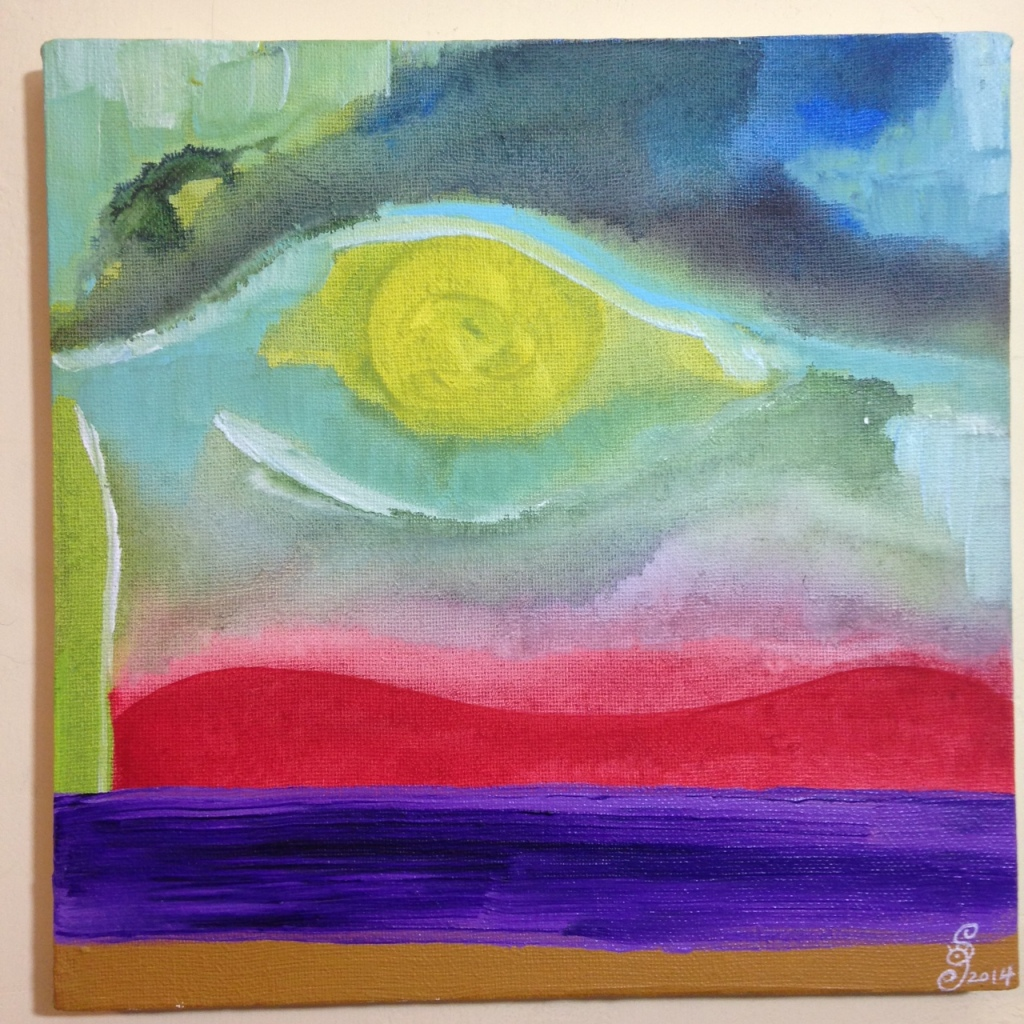 Eye See Spring- Tribute to Ronnie Landfield Linda Cleary 2014 Acrylic on Canvas