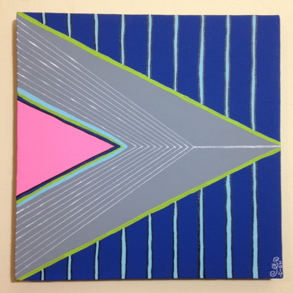 Montagne Gris- Tribute to Frank Stella Linda Cleary 2014 Acrylic on Canvas