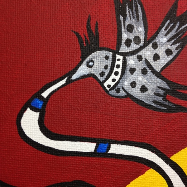Close-Up 2 Femme Dans La Nature- Tribute to Fernand Leger Linda Cleary 2014 Acrylic on Canvas