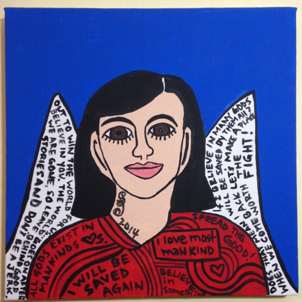 So Say I- Tribute to Howard Finster Linda Cleary 2014 Acrylic on Canvas