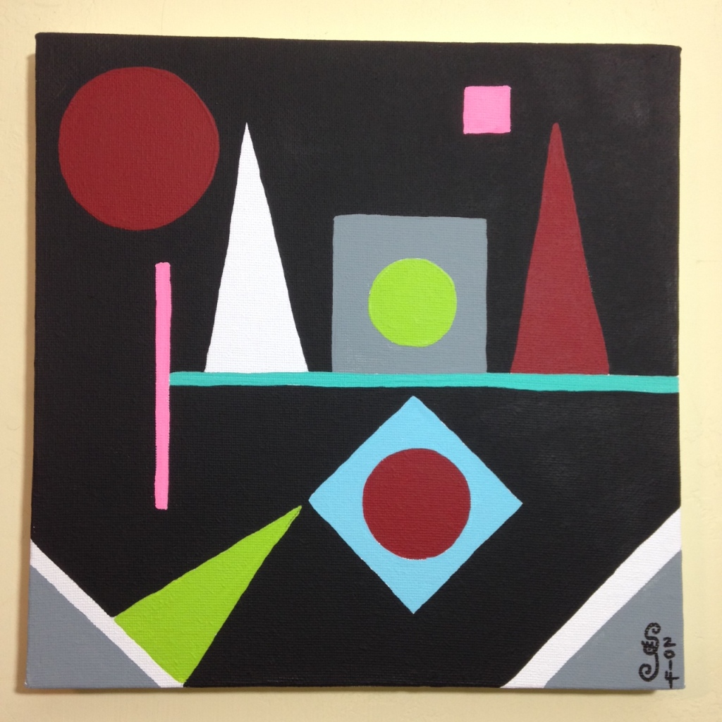 Lundi- Tribute to Auguste Herbin Linda Cleary 2014 Acrylic on Canvas
