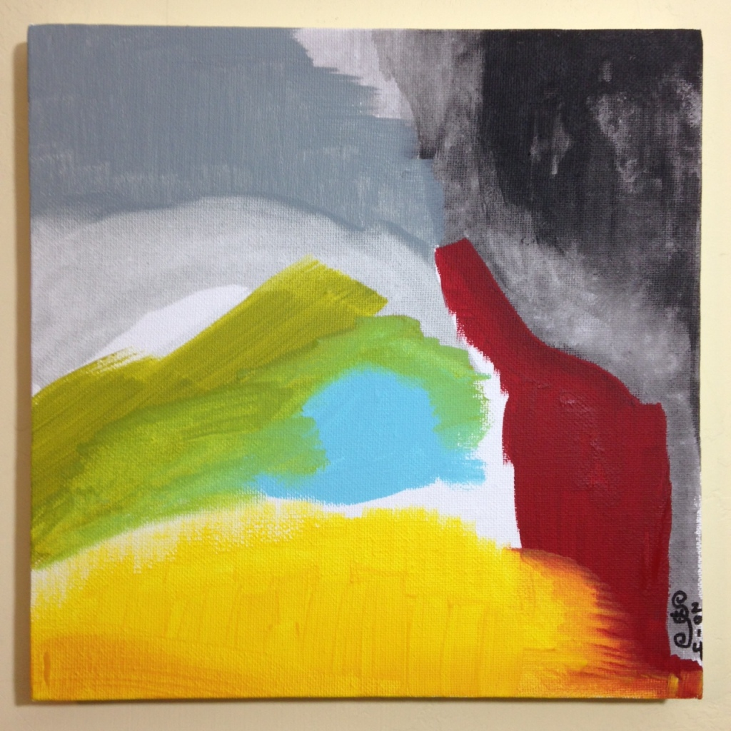 Untitled 119- Tribute to Friedel Dzubas Linda Cleary 2014 Acrylic on Canvas