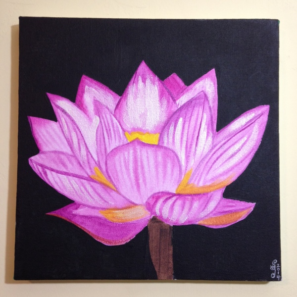 Pink Lotus- Tribute to Georgia O'Keeffe Linda Cleary 2014 Acrylic on Canvas