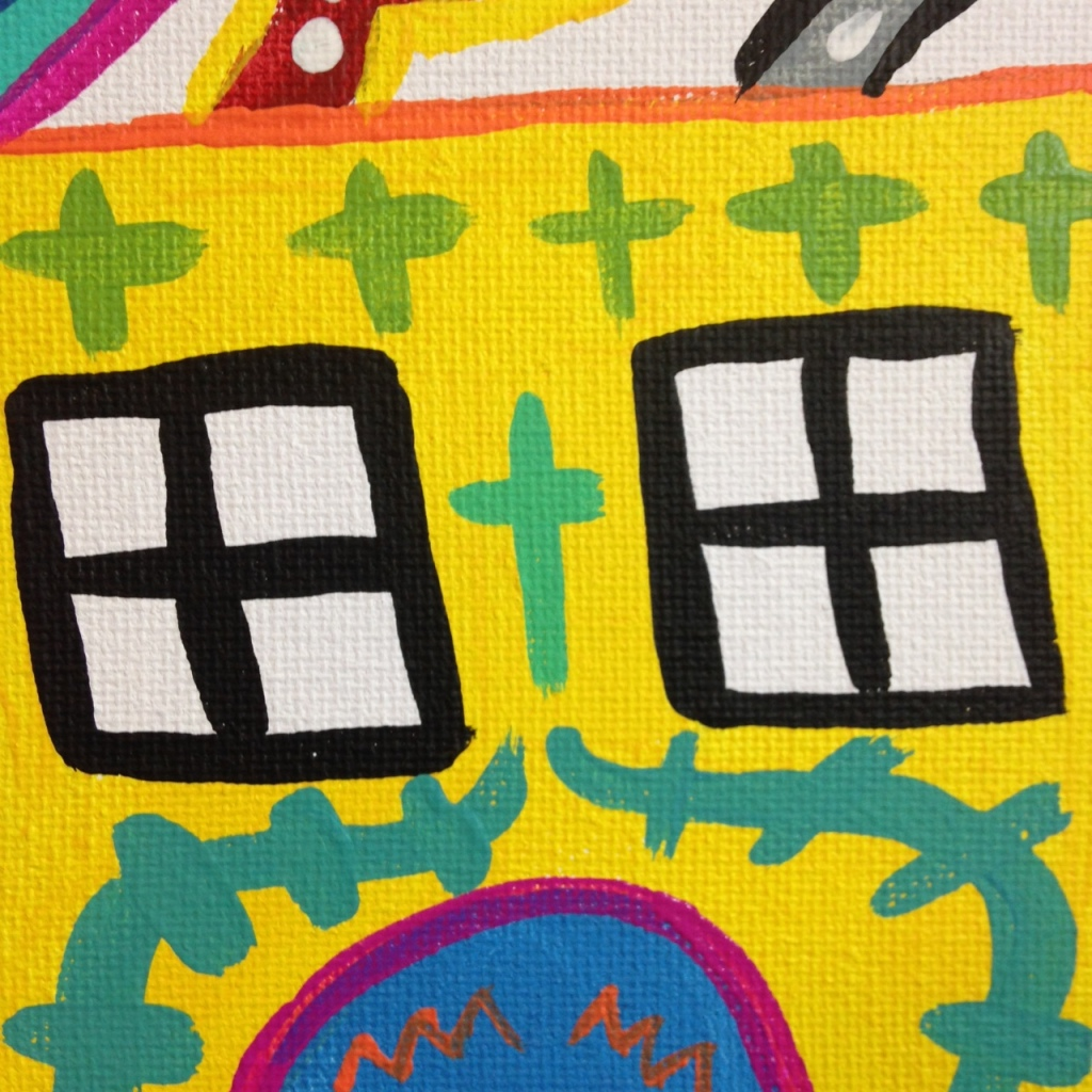 Close-Up 3 Funhouse- Tribute to Elizabeth Murray Linda Cleary 2014 Acrylic on Canvas
