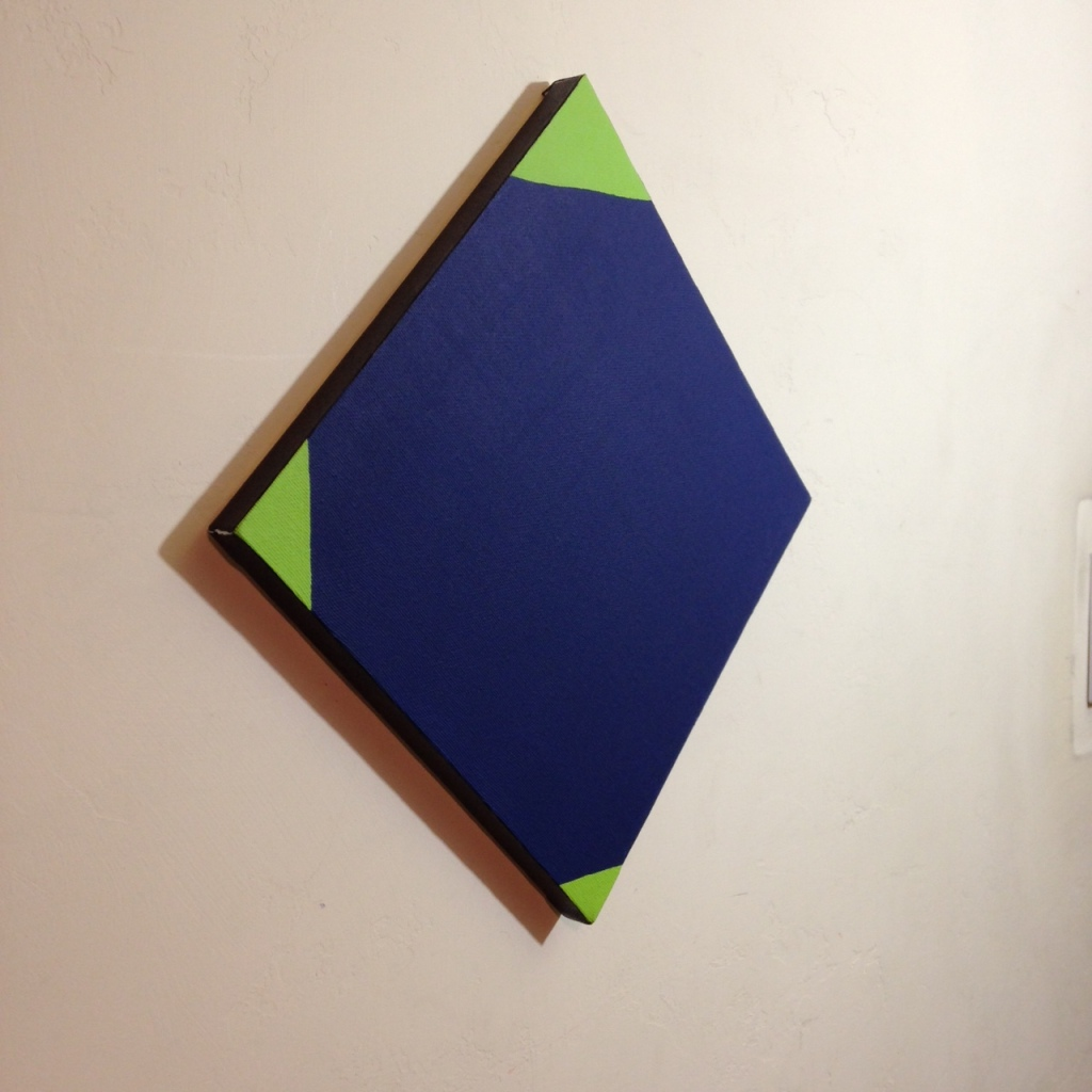 Side-View Blau und Grün- Tribute to Max Bill Linda Cleary 2014 Acrylic on Canvas