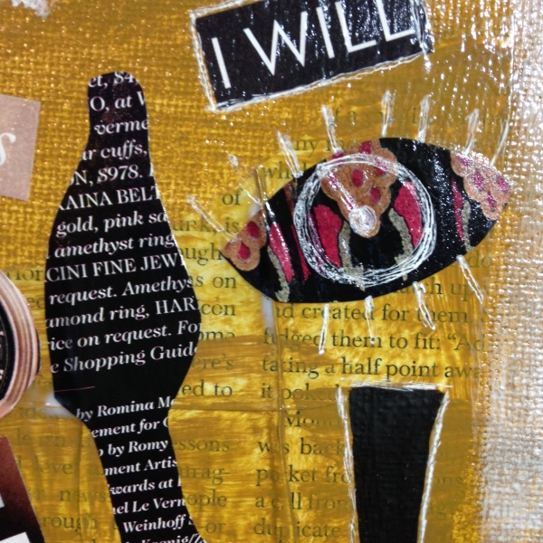 Close-Up 4 Day 100- Tribute to Raoul Hausmann Linda Cleary 2014 Mixed-Media on canvas