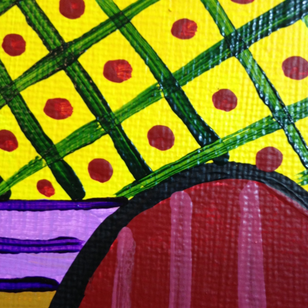 Close-Up 3 Woman on A Red Chair- Tribute to Pablo Picasso Linda Cleary 2014 Acrylic on Canvas