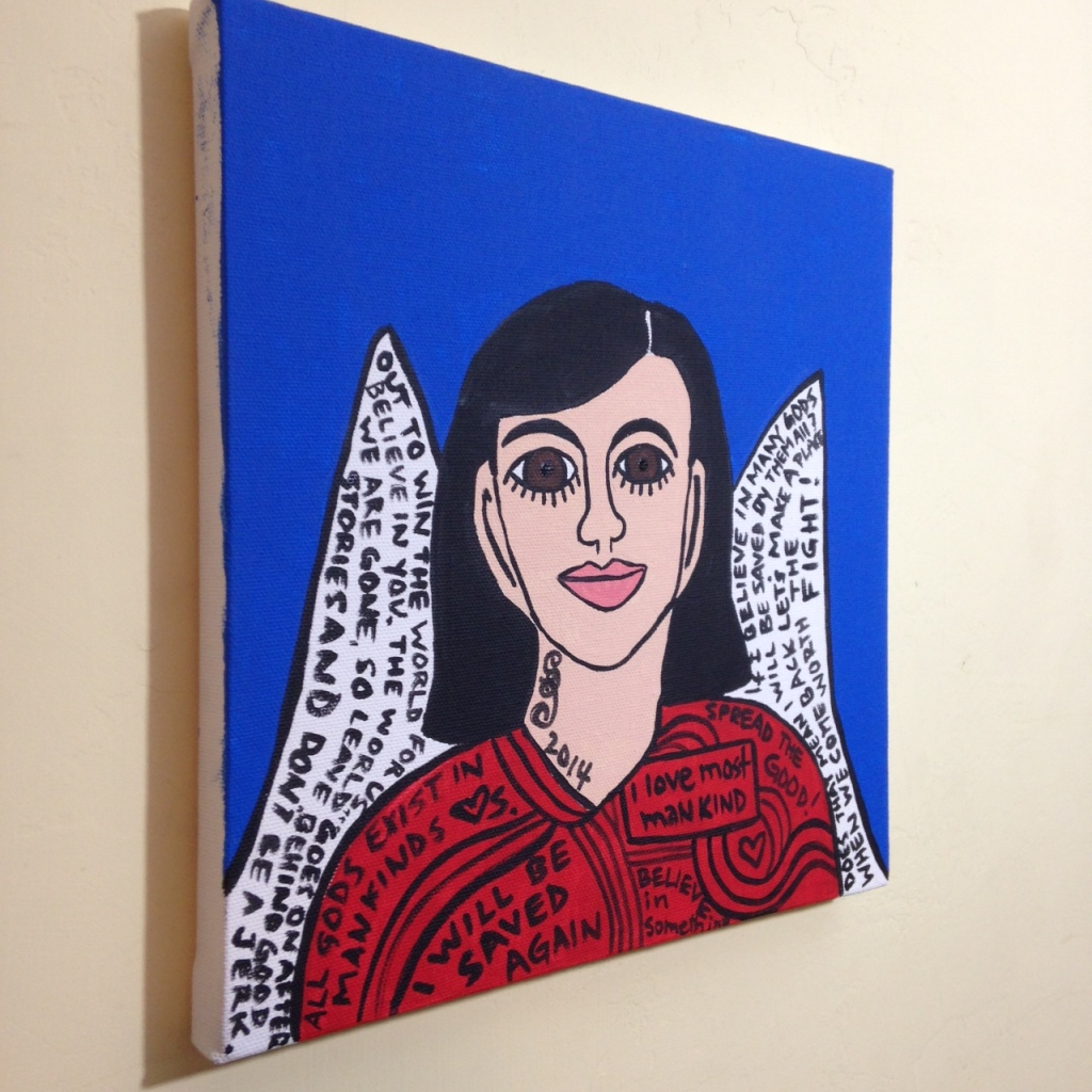 Side-View So Say I- Tribute to Howard Finster Linda Cleary 2014 Acrylic on Canvas