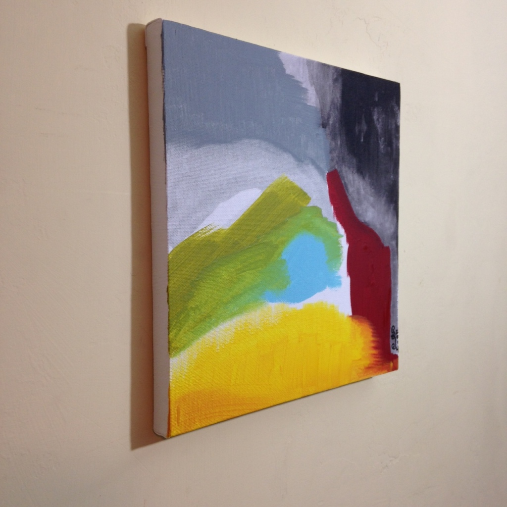 Side-View Untitled 119- Tribute to Friedel Dzubas Linda Cleary 2014 Acrylic on Canvas