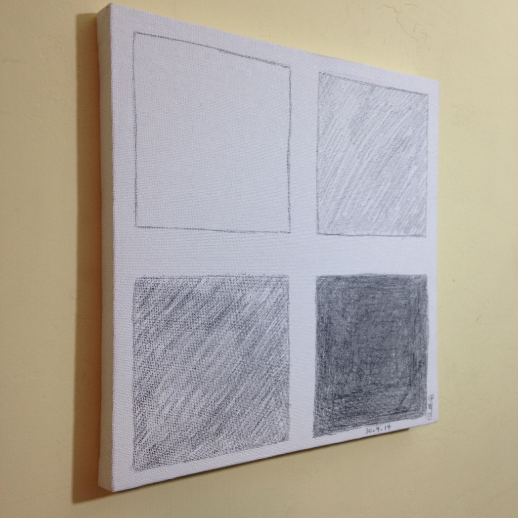 Side-View 30-4-14- Tribute to Bob Law Linda Cleary 2014 Graphite on Canvas