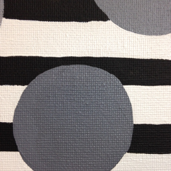 Close-Up 1 Gray Areas- Tribute to Bridget Riley Linda Cleary 2014 Acrylic on Canvas