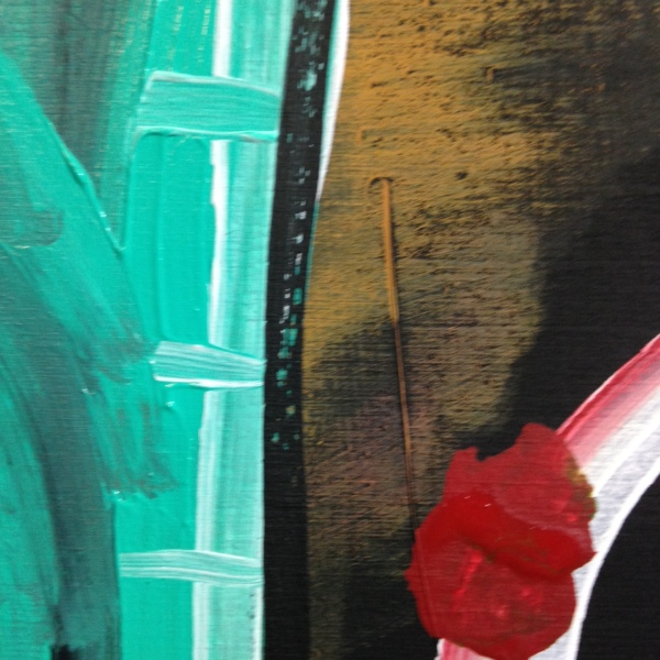 Close-Up 4 Take the Poison Out- Tribute to Ronald J. Sloan Linda Cleary 2014 Acrylic on wood panel
