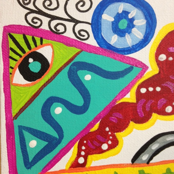 Close-Up 1 Funhouse- Tribute to Elizabeth Murray Linda Cleary 2014 Acrylic on Canvas