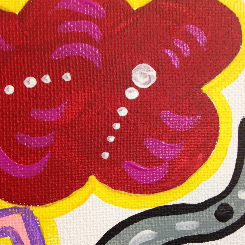 Close-Up 4 Funhouse- Tribute to Elizabeth Murray Linda Cleary 2014 Acrylic on Canvas