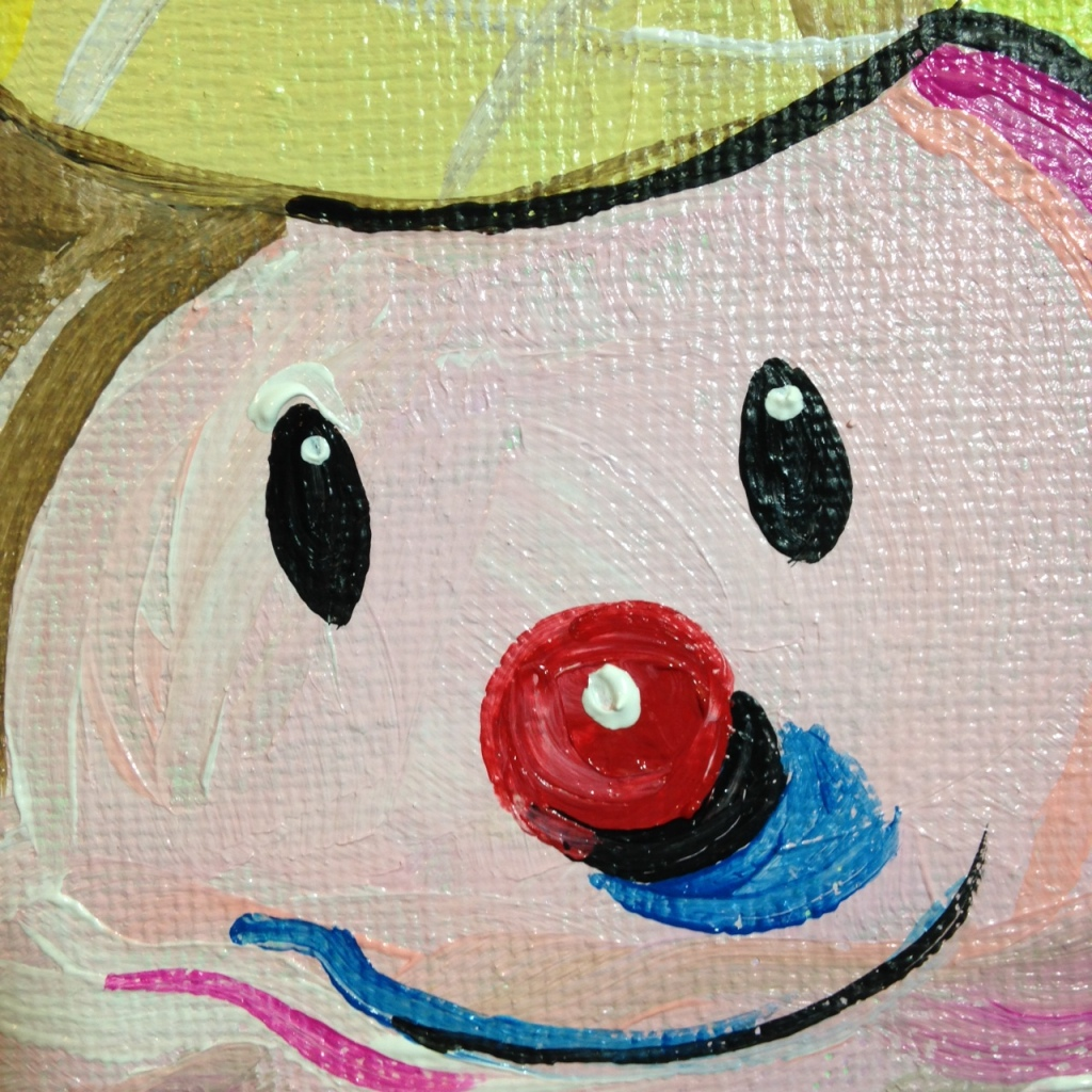 Close-Up 1 Clown Cone- Tribute to Wayne Thiebaud Linda Cleary 2014 Acrylic on Canvas