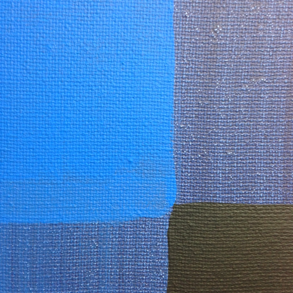 Close-Up 1 Blue Painting- Tribute to Ad Reinhardt Linda Cleary 2014 Acrylic on Canvas