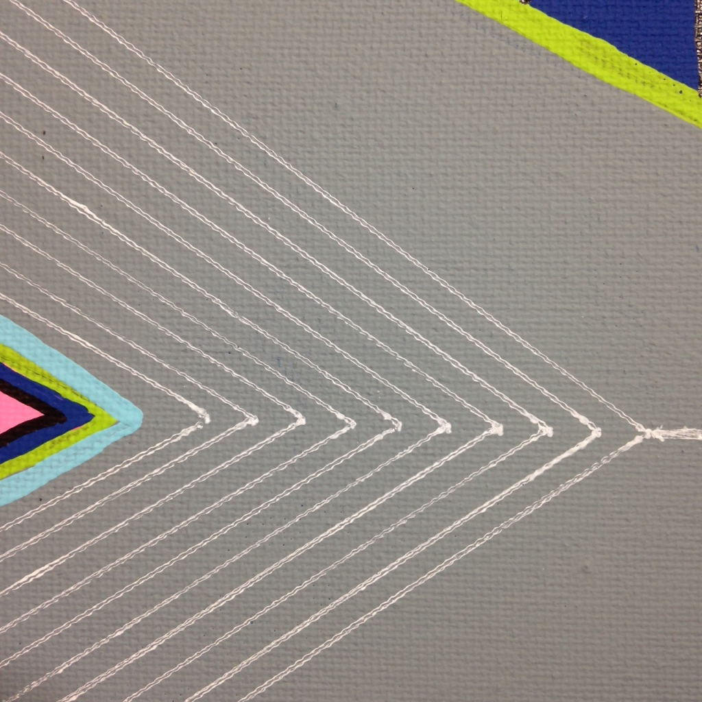 Close-Up 1 Montagne Gris- Tribute to Frank Stella Linda Cleary 2014 Acrylic on Canvas