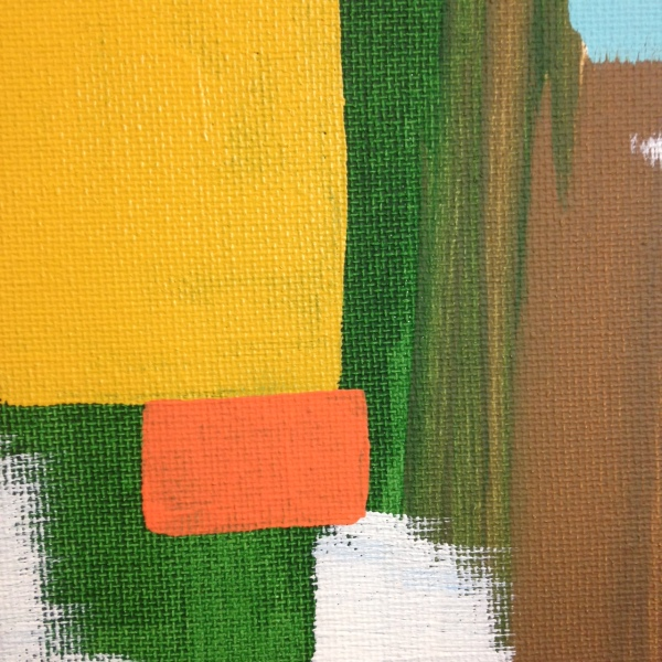 Close-Up 1 Untitled 113- Tribute to Carl Holty Linda Cleary 2014 Acrylic on Canvas
