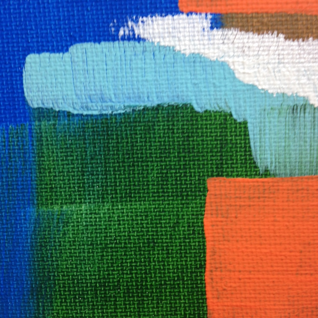 Close-Up 4 Untitled 113- Tribute to Carl Holty Linda Cleary 2014 Acrylic on Canvas