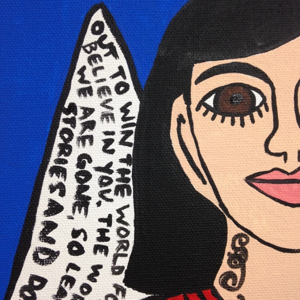 Close-Up 1 So Say I- Tribute to Howard Finster Linda Cleary 2014 Acrylic on Canvas