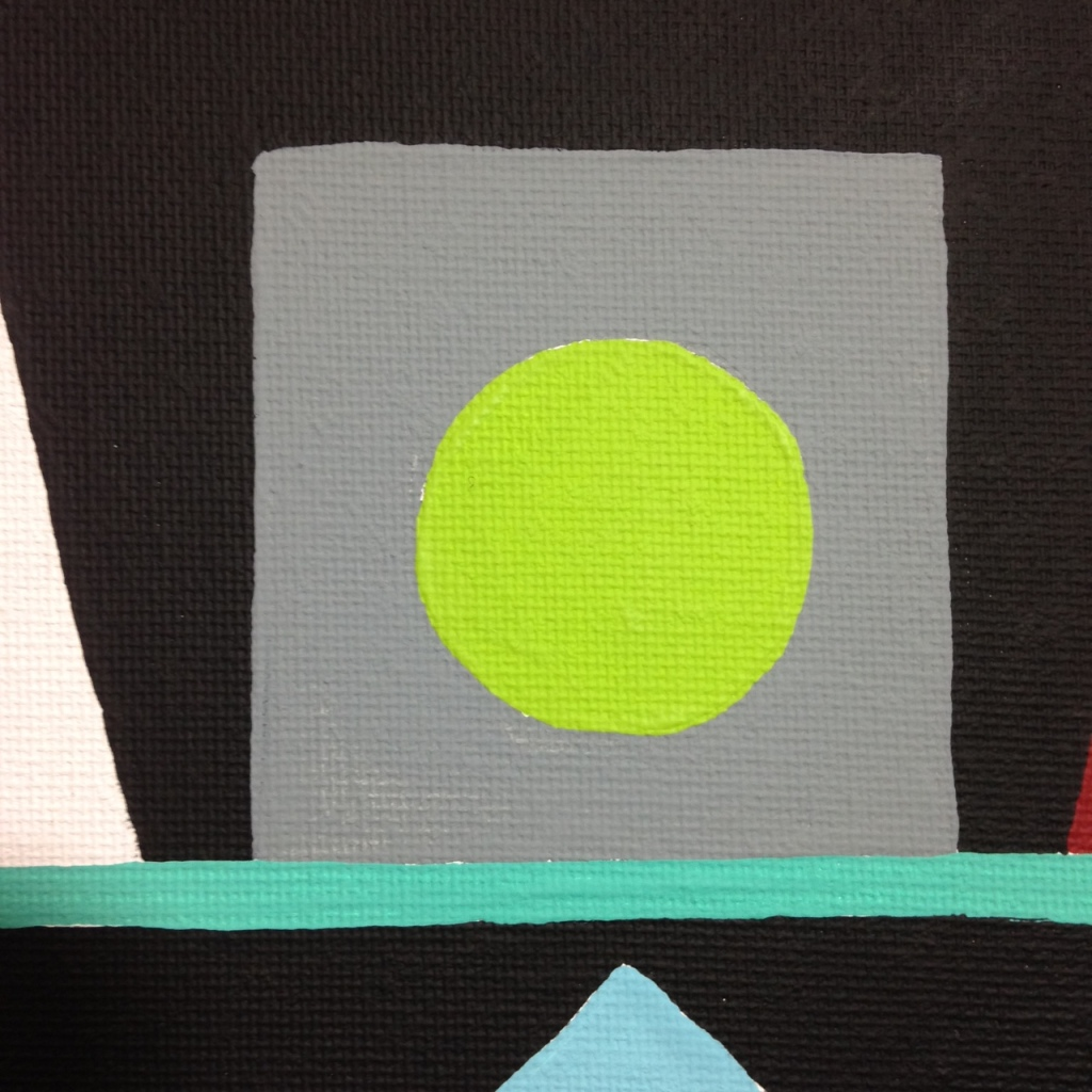 Close-Up 1 Lundi- Tribute to Auguste Herbin Linda Cleary 2014 Acrylic on Canvas