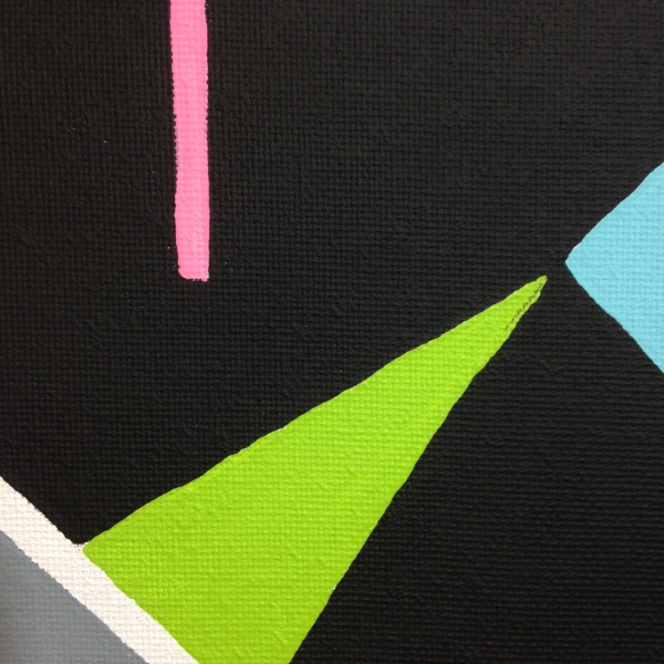 Close-Up 4 Lundi- Tribute to Auguste Herbin Linda Cleary 2014 Acrylic on Canvas