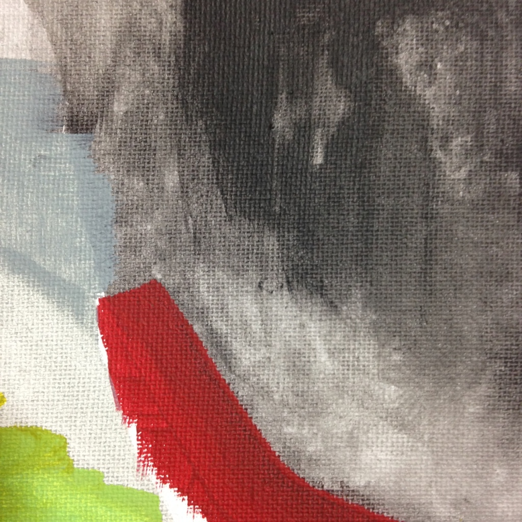 Close-Up 1 Untitled 119- Tribute to Friedel Dzubas Linda Cleary 2014 Acrylic on Canvas