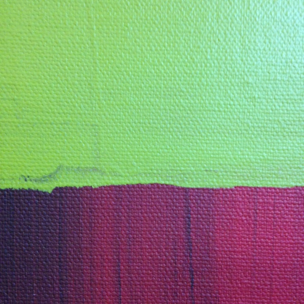 Close-Up 1 Red, black, gray, olive and white- Tribute to Mark Rothko Linda Cleary 2014 Acrylic on Canvas