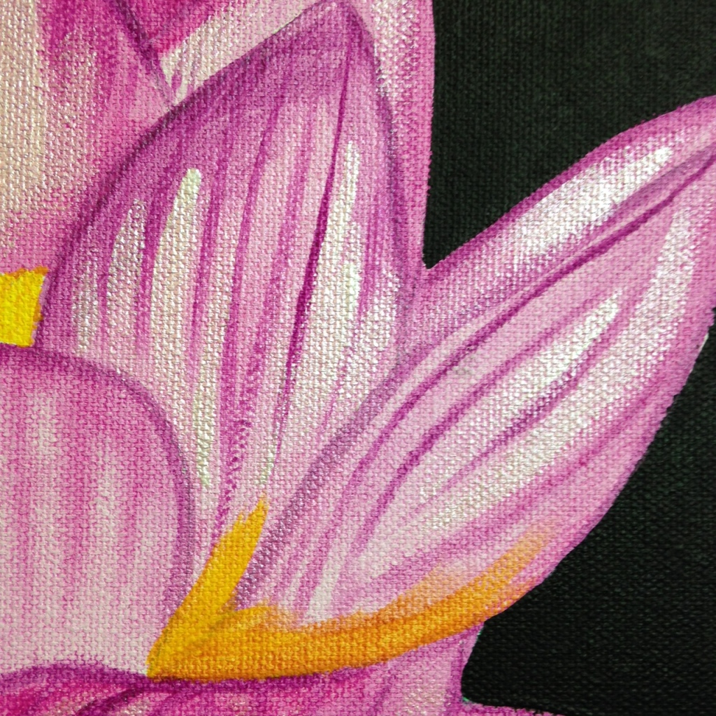 Close-Up 1 Pink Lotus- Tribute to Georgia O'Keeffe Linda Cleary 2014 Acrylic on Canvas