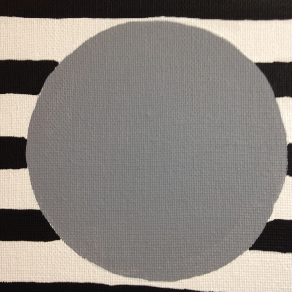 Close-Up 2 Gray Areas- Tribute to Bridget Riley Linda Cleary 2014 Acrylic on Canvas