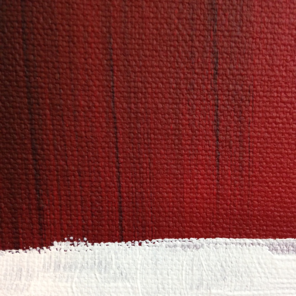 Close-Up 2 Red, black, gray, olive and white- Tribute to Mark Rothko Linda Cleary 2014 Acrylic on Canvas