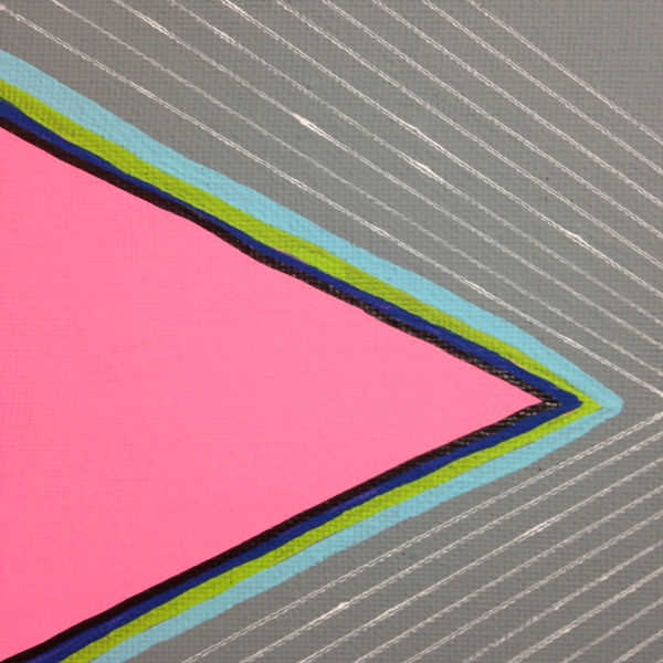 Close-Up 2 Montagne Gris- Tribute to Frank Stella Linda Cleary 2014 Acrylic on Canvas