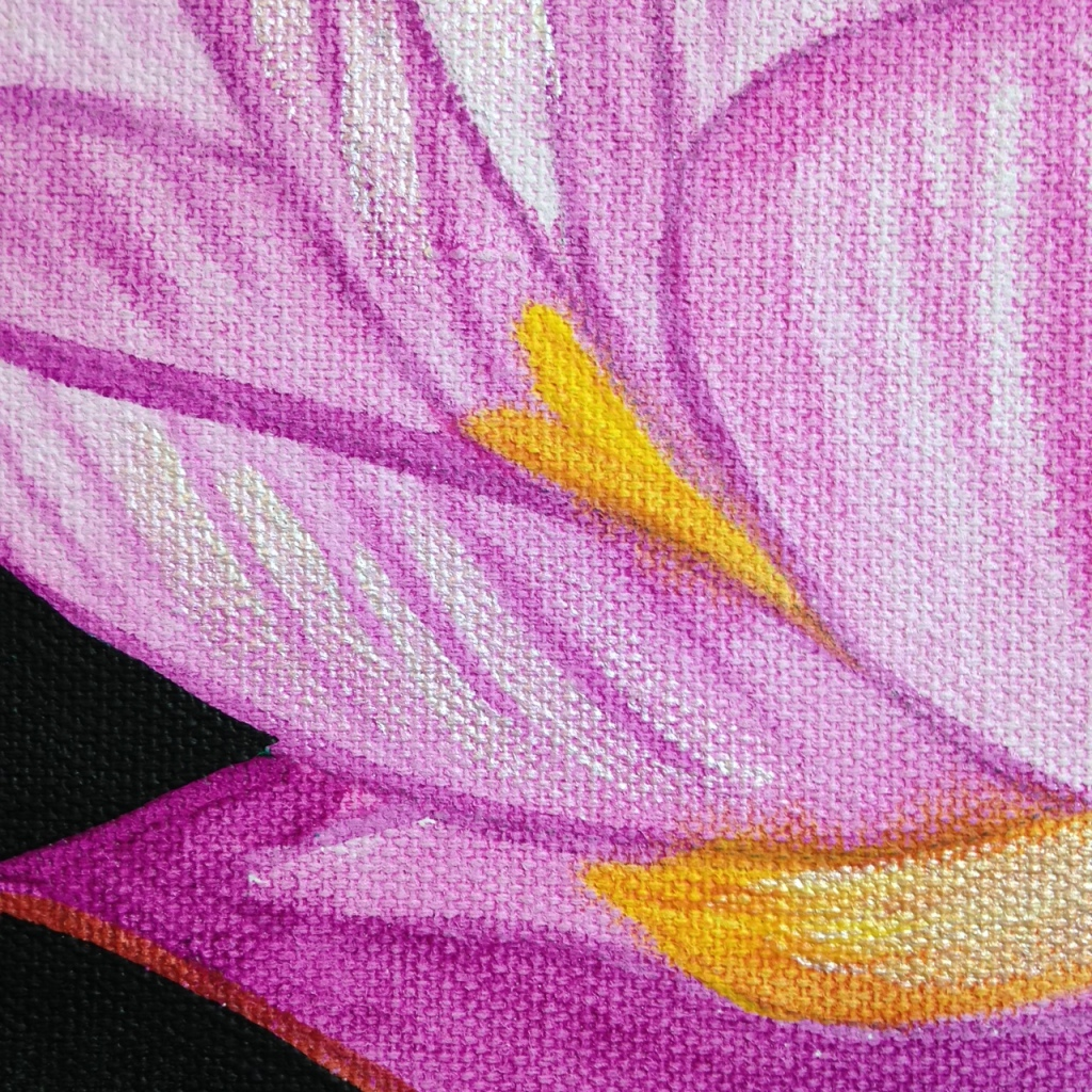 Close-Up 2 Pink Lotus- Tribute to Georgia O'Keeffe Linda Cleary 2014 Acrylic on Canvas