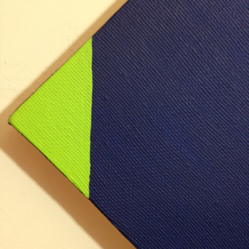 Close-Up 2 Blau und Grün- Tribute to Max Bill Linda Cleary 2014 Acrylic on Canvas