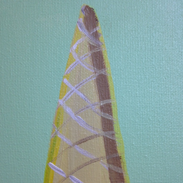 Close-Up 2 Clown Cone- Tribute to Wayne Thiebaud Linda Cleary 2014 Acrylic on Canvas