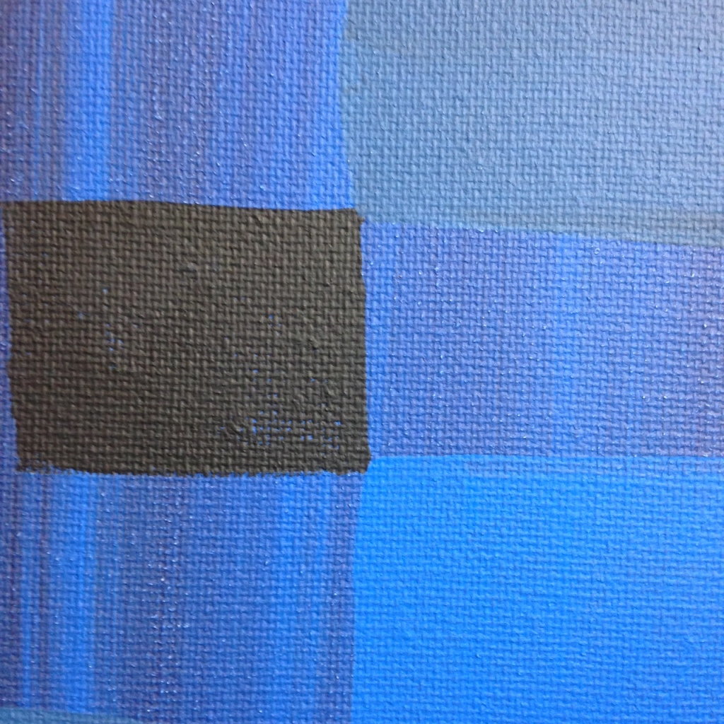 Close-Up 2 Blue Painting- Tribute to Ad Reinhardt Linda Cleary 2014 Acrylic on Canvas