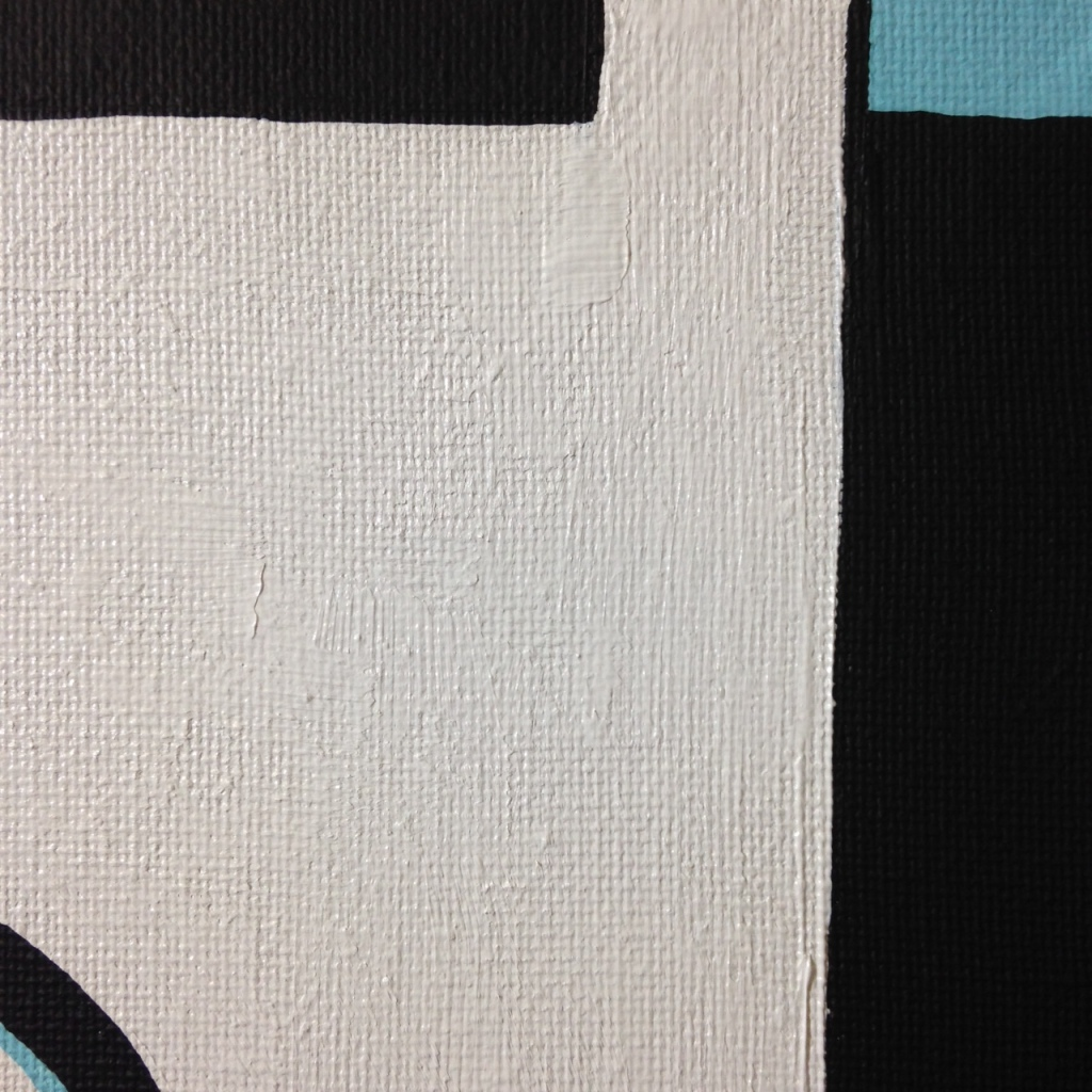 Close-Up 3 Symblistic- Tribute to Jo Baer Linda Cleary 2014 Acrylic on Canvas