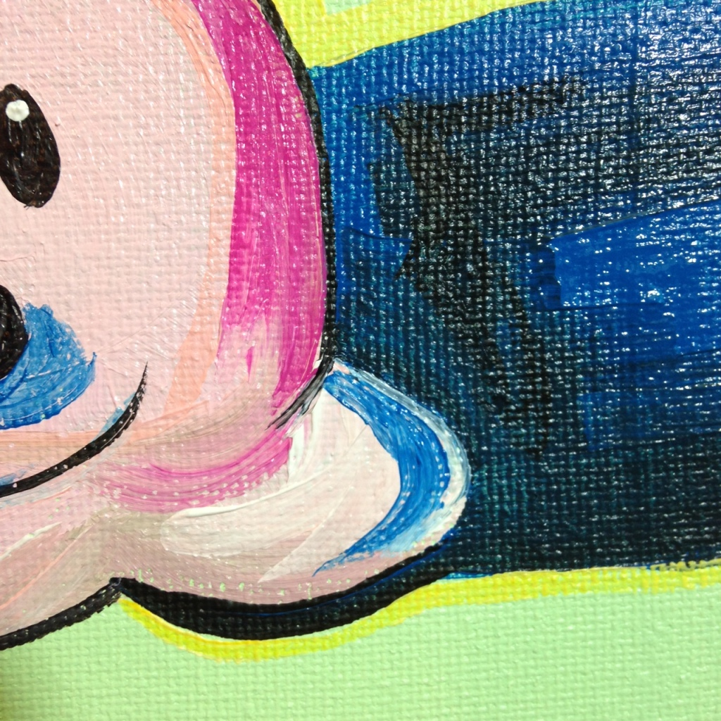 Close-Up 3 Clown Cone- Tribute to Wayne Thiebaud Linda Cleary 2014 Acrylic on Canvas