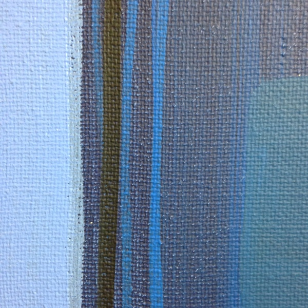 Close-Up 3 Blue Painting- Tribute to Ad Reinhardt Linda Cleary 2014 Acrylic on Canvas