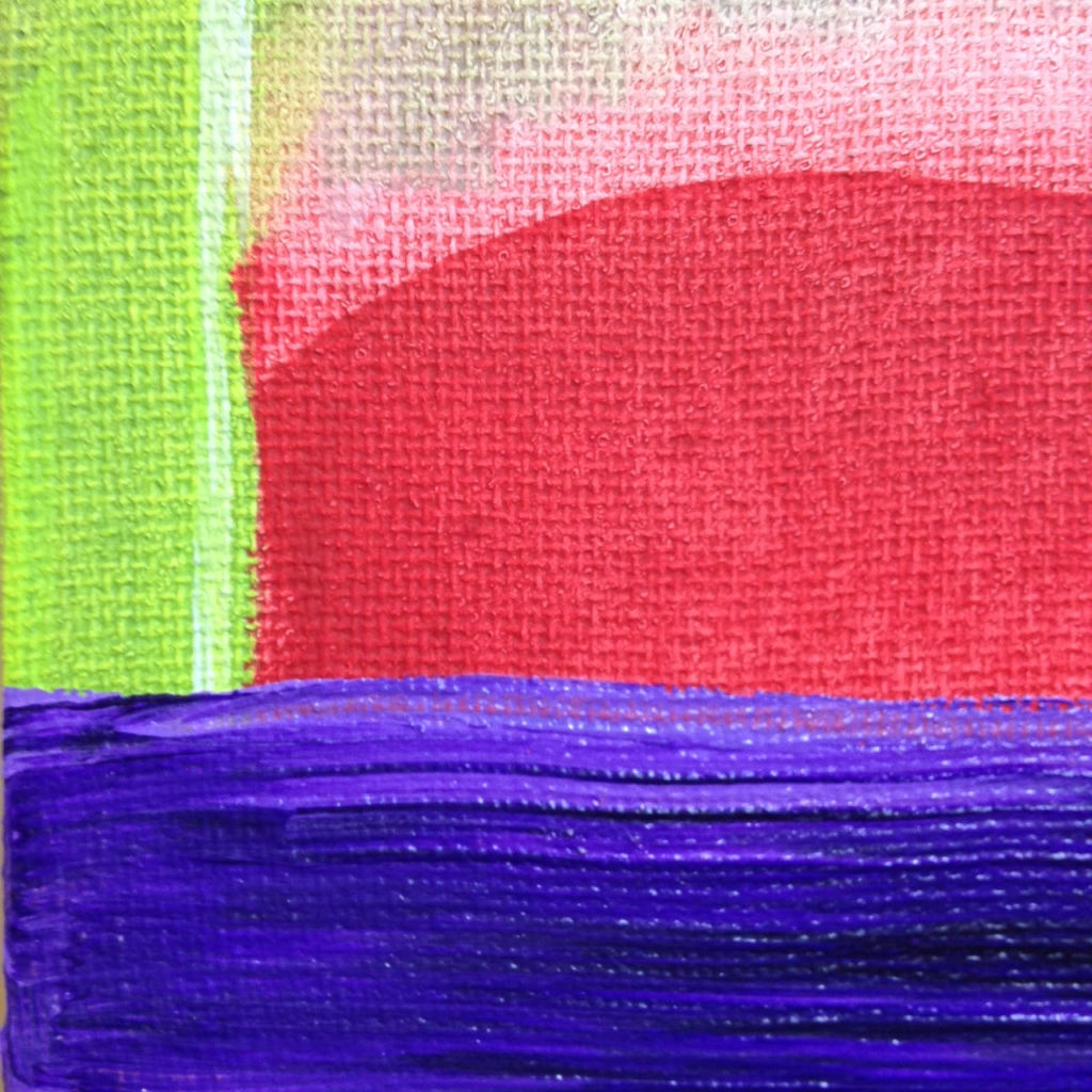 Close-Up 3 Eye See Spring- Tribute to Ronnie Landfield Linda Cleary 2014 Acrylic on Canvas