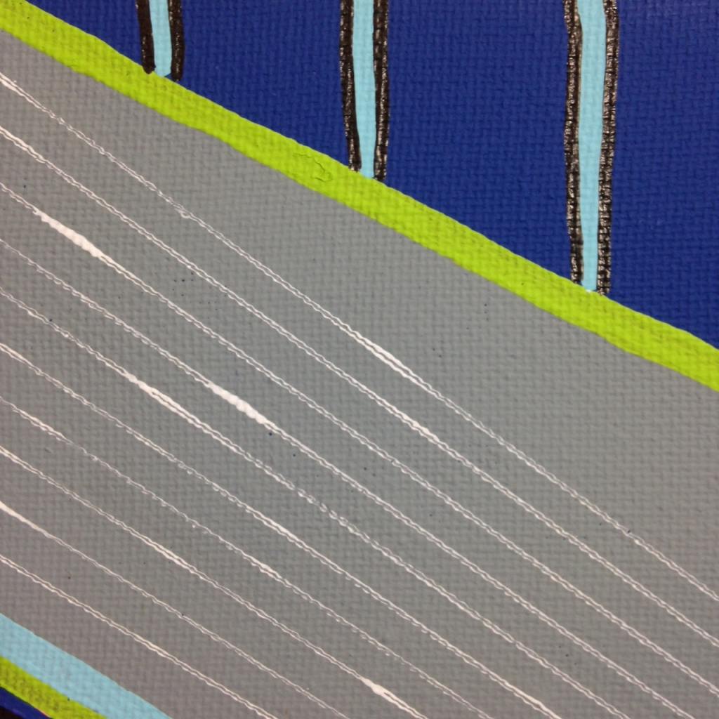 Close-Up 3 Montagne Gris- Tribute to Frank Stella Linda Cleary 2014 Acrylic on Canvas