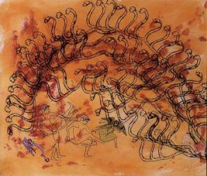 """Nancy Spero, """"Azur,"""" detail 2002 courtesy Galerie Lelong"""