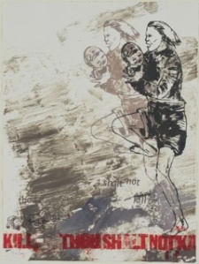 Thou Shalt Not Kill, plate VI- Nancy Spero