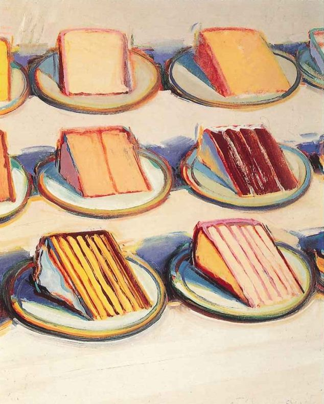 wayne thiebaud artist Wayne thiebaud – pop art cakes by megan fizell on nov 25, 2010 • 12:53 21 comments the frosting upon wayne thiebaud's 1963 painting, cakes , is so thickly applied that i am often tempted to reach out, run my finger along one of the perfect cake-tops to taste the sugary dessert.