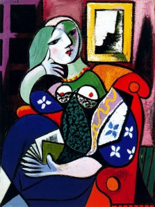 Woman with Book (1932)- Pablo Picasso