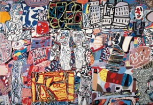 Jean Dubuffet 'Mele Moments' Acrylic and collage mounted on canvas, 1976