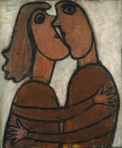 The Little Kiss- Jean Dubuffet (1943)