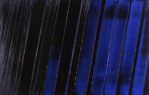 1987 Peinture 11 Juillet 1987 [acrylic on canvas]- Pierre Soulages